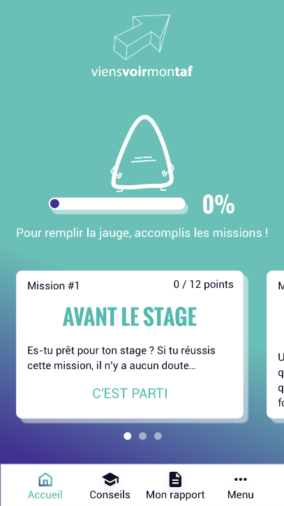 application mobile rapport stage conseils stage 3e ViensVoirMonTaf